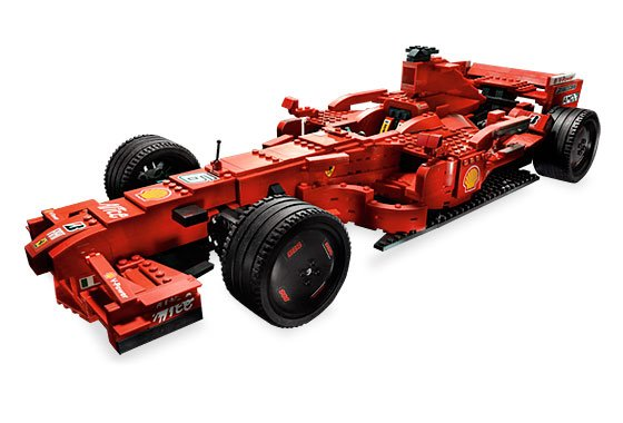 lego ferrari f1 schaal 1 op 9 lego 8157 lego ferrari lego brickshop holland b v. Black Bedroom Furniture Sets. Home Design Ideas