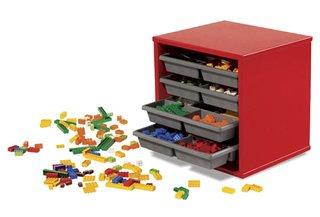 lego opbergsysteem met 4 laden lego opbergsystemen brickshop holland b v lego en duplo. Black Bedroom Furniture Sets. Home Design Ideas
