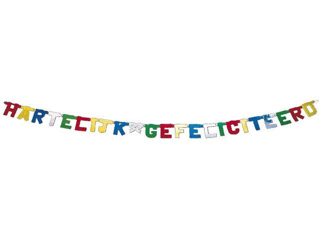gefeliciteerd slingers Party Factory Slinger Hartelijk Gefeliciteerd | 8711319050250  gefeliciteerd slingers