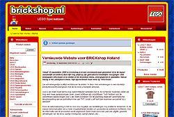 Nieuwe website BRICKshop Holland